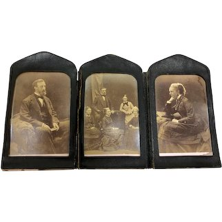 Leather Framed Victorian Late 1800s Photos