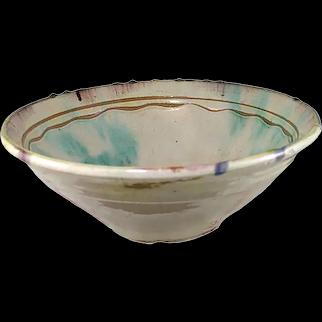 Glazed Pottery Bowl, Confit Pot Dough bowl