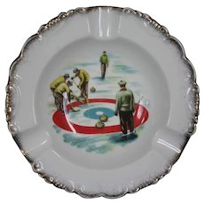 Curling Ashtrays Pair By Royal Albert, Bone China England, Special Gift For Curling Enthusiast