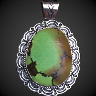 Navajo Silversmith Gary REEVES (1962-2014) Gallup, New Mexico, Turquoise & Sterling Silver Pendant/Pin