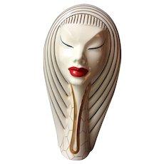Mid Century Italian Figural Ceramic Decanter or Wine Flask Ceramic I