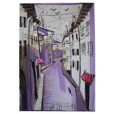 """""""The streets of the old city"""" original graphic artist Alexander Ivanov"""