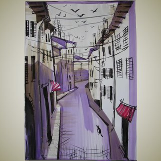 """The streets of the old city"" original graphic artist Alexander Ivanov"