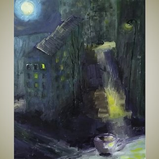 "Original oil painting ""Full Moon"""