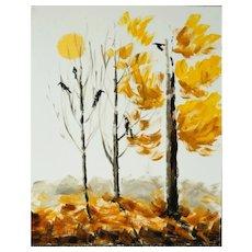 """Original author's landscape """"Crows"""""""