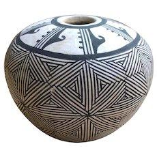Acoma Pueblo South Western Mid-Century Native American Pot
