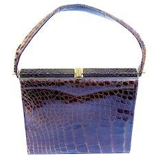 Vintage Neiman Marcus Alligator Claude Design Handbag