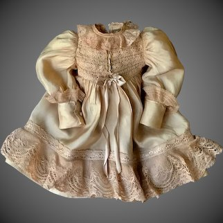 "Beautiful Silk Dress for an 18"" Doll by Gabriella"