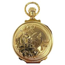 1887 Elgin 14Kt Y/G  Special Order MINT Hunter Case Pocket Watch