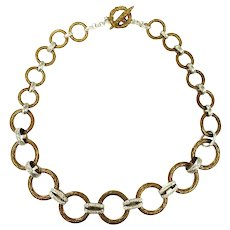 Vintage Stephen Dweck Legacy Collection One of a Kind Diamond Toggle Necklace