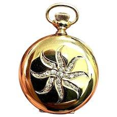 1902 Elgin Diamond Pocket Watch