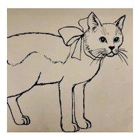 Black line animal drawings - Cat, Horse, Rabbit