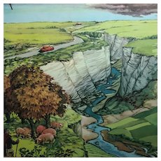 French mid-century school poster: The Plateau (Le Plateau) and The Hill (La Colline)