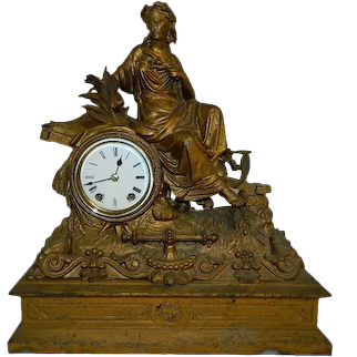 Antique Rare 1872 Seth Thomas And Son The Harvest Goddess Mantel Clock