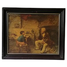 Painting, Oil Painting, Vintage Portrait Oil Painting on Board