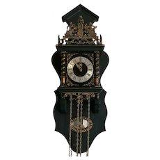 Old Vintage Dutch Nu Elck Syn Sin Wall Clock