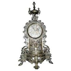 Vintage Gilt Bronze Mantel Clock