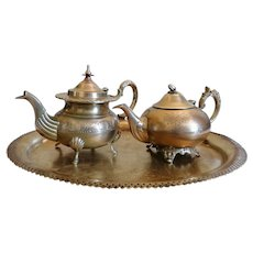 Islamic Art - Antique Brass Teapot - Art Decor