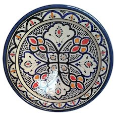 Vintage Large Bowl or Dish, Moroccan Wall Decor