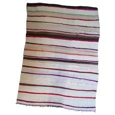 Vintage Moroccan Bohemian Blanket - Stripe Design