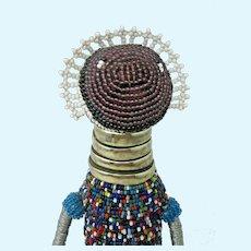 "African Ndebele Maternal Fertility Doll Beaded Tribal Art 13.5"" South Africa"