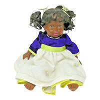 "1991 Mattel Lovable Babies ~16"" ~African American Doll CPK Dress"