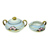 Zeh Scherzer & Co, Bavaria - Hand Painted Creamer & Sugar Bowl