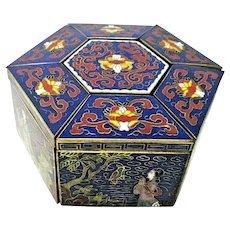 Chinese Peking GuYiZhaiCang - 7 section - Lidded Trinket Box