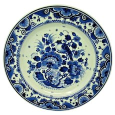 DELFT BLUE Wall Plate by ZENITH Gouda Holland