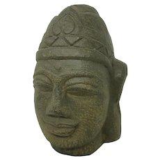 Buddhism - Stone Head of Shiva, Gupta style 500-700 A.D