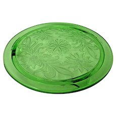 Depression Glass Sunflower Green by Jeanette Glass 1930-1935
