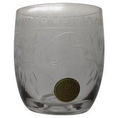 Theresienthal Connoisseur Shot Glasses SET of 8 - Handgravour Crystal Bavaria