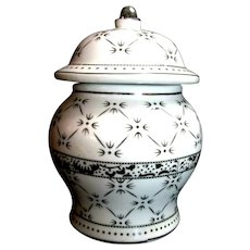 Italy Tinaja Ginger Jar Geometric Platinum Star Bursts