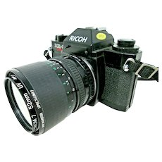 Ricoh KR-5 SUPER 35mm Camera w Promaster Spectrum Zoom  Lens