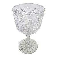 ABP - T.B Clark Water Goblet American Brilliant Period -  Fan & Pinwheel