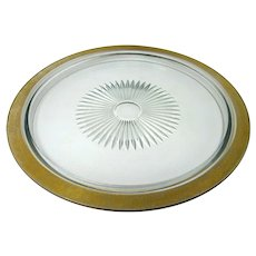 "Rambler Rose Gold by Glastonbury - Lotus - 13"" Round Tray"