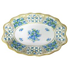 Schumann - Bavaria - Pierced Oval Bowl - Chalet Forget Me Not - Germany