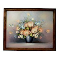 Floral Still Life Oil on Board Painting - Signed Sweeling.- 22x18 England