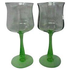 Cambridge Glass Emerald Pattern 3095 Water Goblet