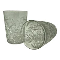 ABP Old Fashioned Tumblers Strawberry Diamond & Fans - A Pair (2)