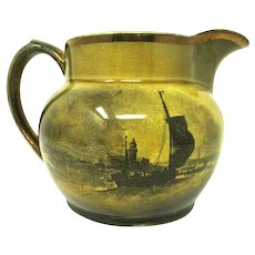 Ridgways Pitcher - 'Royal Vistas Ware' - Famous Artists - England