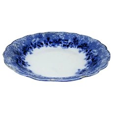 Early Ridgway/Ridgways Dundee FLOW BLUE Coupe Soup Bowl