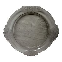 EAPG - PLUCK No. 1 by Gillinder & Sons - Novelty Plate - c. 1880s