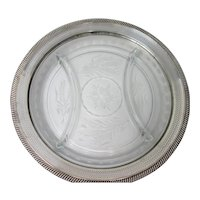 Sterling Silver 3-Section Serving Tray Plate Webster Co.