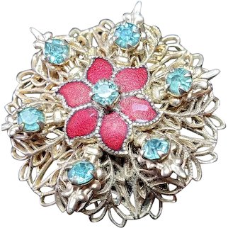 Stunning Vintage Poinsettia Pin Brooch Great for Children