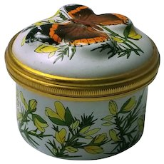 Halcyon Days Monarch Butterfly Trinket or Pill Box