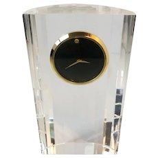 Movado Crystal Museum Dial Mantel or Desk Clock