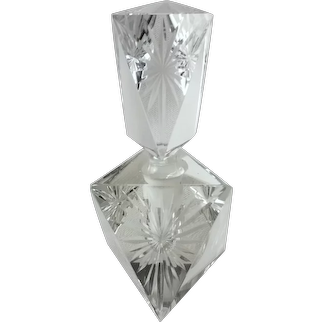 Vintage Cut Glass Crystal Perfume Bottle