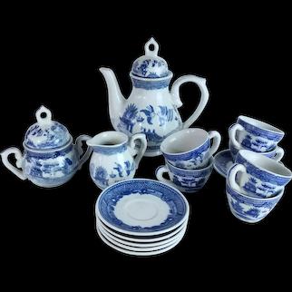 Victoria Ironstone Blue and White Chinoiserie Children's Tea Set