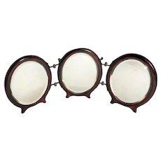 Antique Tri Fold Travel Mirror c. 1910